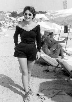 killin' it on the beach. riviera, 1954