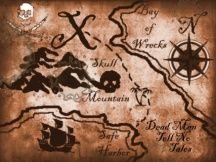 pirate treasure map - doll sized