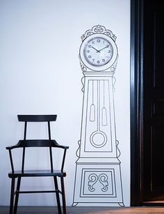 Stick-On Grandfather Clock | 13 Colorful Ways To Liven Up Your Dorm Room