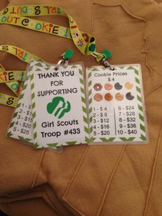 Cookie Booth Lanyards