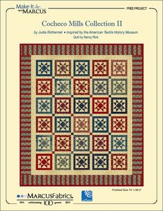 Cocheco Mills Collection II by Judie Rothermel; quilt by Nancy Rink