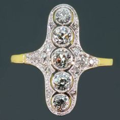 Typical Belle Epoque diamond engagement ring