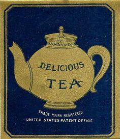 Vintage tea label pinned by Keva xo.