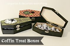 Coffin Treat Boxes - Organize and Decorate Everything