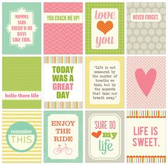 PL printable cards