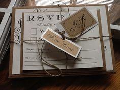 rustic invitation idea