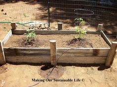 Old Fence becomes Planter Boxes
