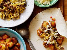 PW's Breakfast Burritos Recipe : Ree Drummond : Food Network - FoodNetwork.com