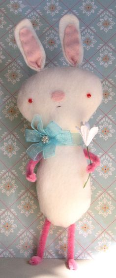 Bunny with flower softies