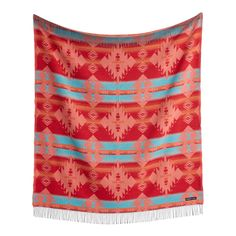 Sackcloth & Ashes Orange and Turquoise Diamond Throw Blanket | World Market