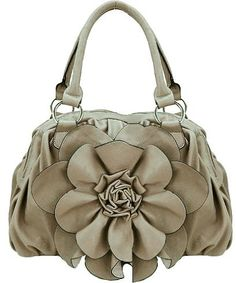 Leather Flower Bag.