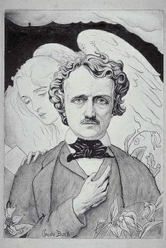 Edgar Allan Poe, ca. 1915, Claude Buck, pen and ink, ink wash and charcoal on paper, sheet: 9 7/8 x 7 in. (25.2 x 17.8 cm), Smithsonian American Art Museum, Gift of Mrs. Claude Buck 1983.46.4