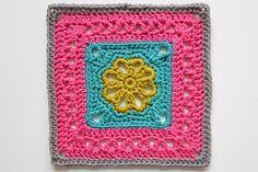 blanket, inch squar, granny squares, granni squar, flower granni, crochet granny square flowers, crochet flower square, squar pattern, flower afghan