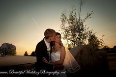 Bride and Groom at dusk