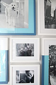 Dipped Frame Gallery Wall via @iheartorganize