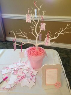 Wishing tree at a Baby Shower Party!  See more party ideas at CatchMyParty.com!