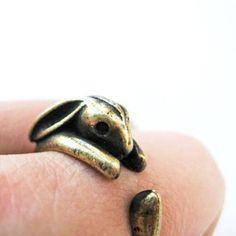 Brass Bunny Ring