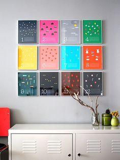decor, wall art, craft, idea, frame, offic, calendar design, diy, new years
