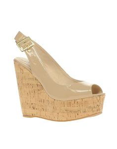 Wissper Cork Wedge Slingback Sandal