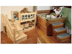 DIY dog bed idea. I have wanted a bed like the one on the right for a long time!