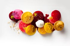 Roasted Beet Salad with Goat Cheese Mousse goats, color palettes, beet salad with goat cheese, mousse, happy food, thanksgiving recipes, salads, food art, vegetarian recipes