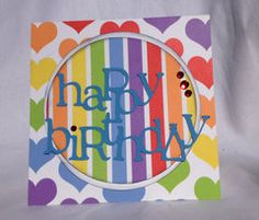 Scrapbook.com Card Gallery - Bright, happy colors from Ella & Viv Paper Company make for fun birthday cards!