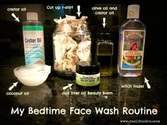 #Natural #Bedtime Face Wash Routine