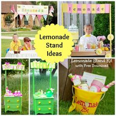Make a lemonade stand with your kids! Design Dazzle