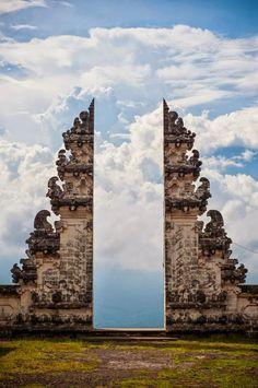 Gate to Heaven in Temple Pura Lempuyang, Bali Indonesia