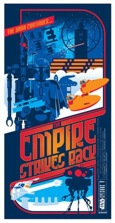 Star Wars Episode V: The Empire Strikes Back (Fan Poster) | By: Mark Daniels, via Numerik