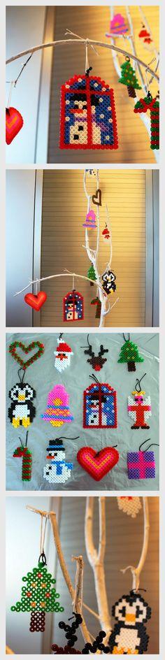 Adornos de Navidad alternativos con cuentas PYSSLA