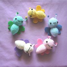 Amigurumi Butterfly Crochet Patterns Free : Amigurumi: Insects on Pinterest Crochet Butterfly ...