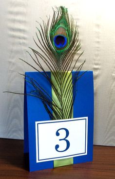 Table thingys tabl number, peacock table numbers