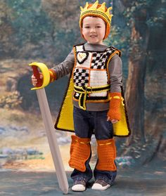 Medieval Prince Free Crochet Pattern from Red Heart Yarns
