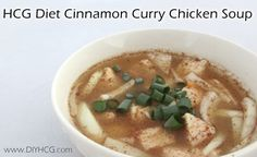 Spice it up! Make this cinnamon curry soup while on the HCG diet for a flavor blast!