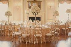 Blush and Gold Reception Decor Ideas within Lovett Hall Ballroom