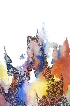 abstract watercolor art print in red, yellow, purple, blue    ...BTW,Please Check this out:  http://artcaffeine.imobileappsys.com