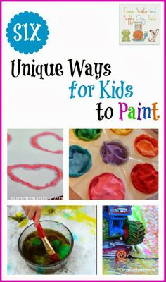6 Unique Ways for Kids to Paint ( -the kids co-op) by FSPDT