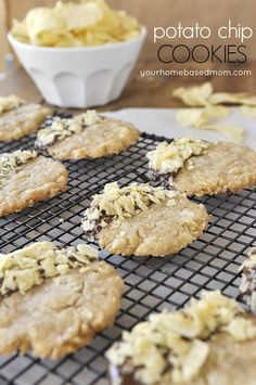 Potato Chip Cookies - the perfect salty and sweet.  They might look weird but you HAVE to try them!