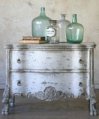 lovely chest decor, idea, shabby chic furniture, color, dressers, paint finishes, bottles, antiqu, drawer pulls