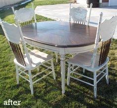 Before &amp After: DIY Dining Table Rehab — Little Miss Penny Wenny