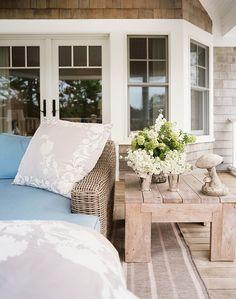 light wood furniture and oversize pillows