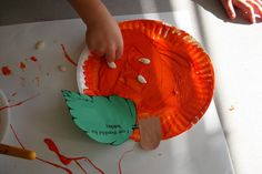 Learning about apples and pumpkins in preschool