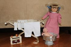 """MADE: Pieces For Reese: 18"""" Doll: Wooden Folding Drying Rack"""