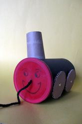 Preschool Recycled Crafts Activities: Make a Pull-Along Canister Train