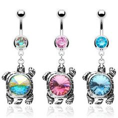 Turtle Belly Rings