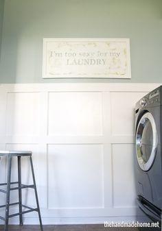 laundry room inspiration - the handmade home - home tour