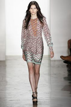 Kaitlin Aas in Peter Som Spring 2013 #ss13 #nyfw