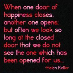 doors, remember this, helen keller door, true, inspir