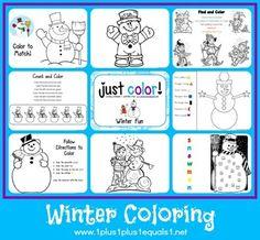 Just Color ~ Winter Fun - 1+1+1=1